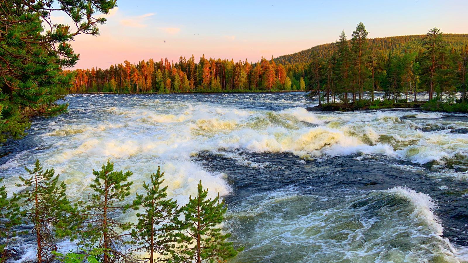 Wasser Fluß Schweden